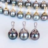 海水黑珍珠珍珠18K金吊坠
